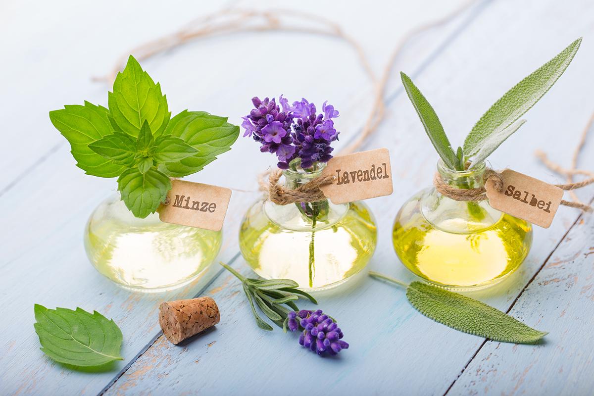 Ätherische Öle - Minze, Lavendel, Salbei